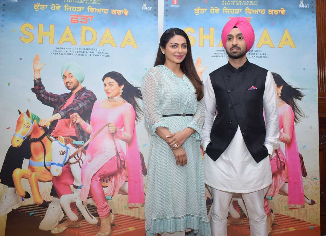 Diljit Dosanjh and Neeru Bajwa witnessed promoting their upcoming